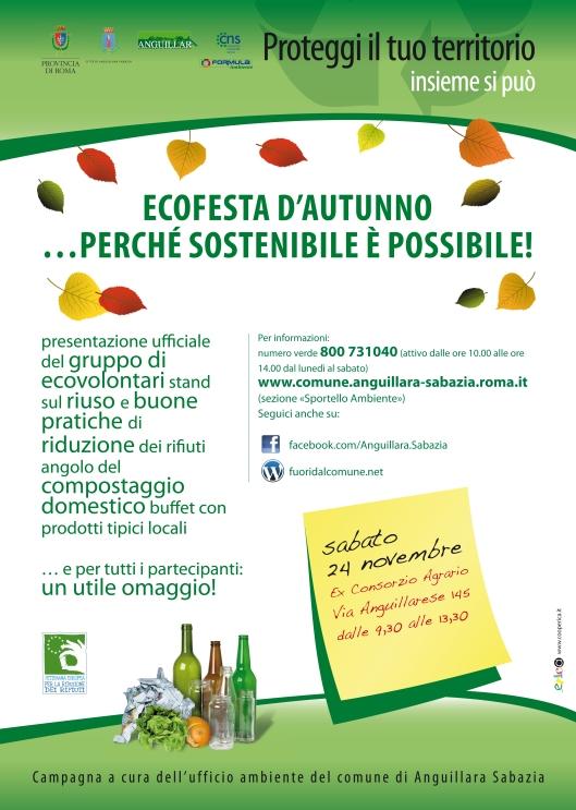 EcoFesta d'autunno, al via gli EcoVolontari