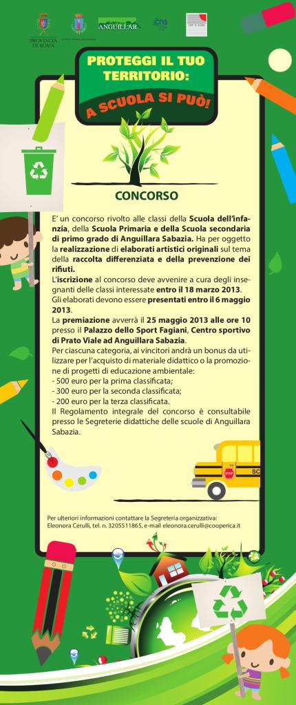 """Locandina del concorso 2013 """"Difendi il tuo territorio: scuola si può!"""""""