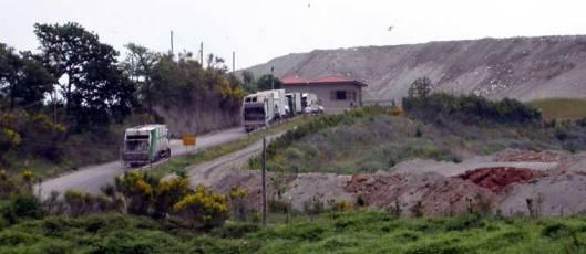 L'ingresso della discarica di Cupinoro