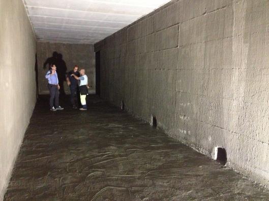 Una delle due camere della cisterna