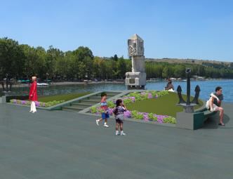 Rendering del nuovo monumento ai caduti in mare