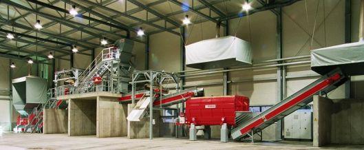 Impianto per il trattamento meccanico-biologico per rifiuti