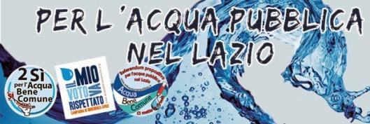 Coordinamento acqua pubblica nel Lazio