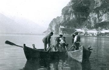 Storica immagine della pesca alla tirlindana