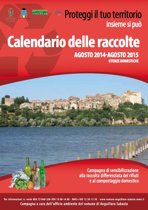 Il Calendario della raccolta differenziata 2014-2015