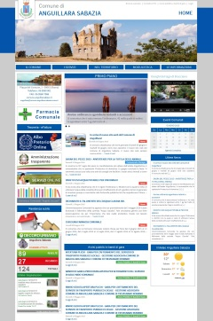 Il mock-up del nuovo sito