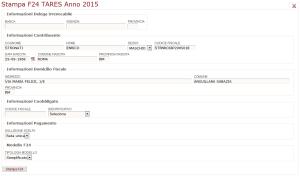 La ristampa degli F24 precompilato per il pagamento della TaRi