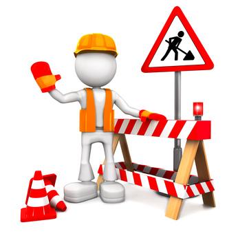 Lavori di riparazione del manto stradale